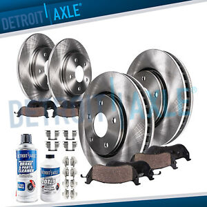 Front Rear Disc Brake Rotors Ceramic Pads Kit For 2014 2015 2016 Kia Soul