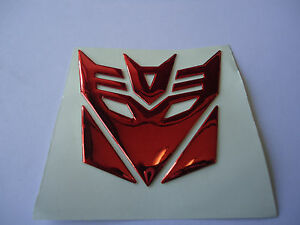 Car Fender Tank Decal Sticker Transformers Decepticon Plating Red Motorcycle