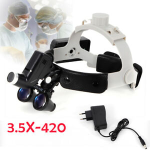 Advanced Dental Surgical Led Optical Headlight Headband Binocular 5w Magnifying