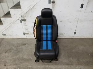 2010 2014 Mustang Gt500 Black Leather Seat W blue Rh Passenger Side Seat Oem
