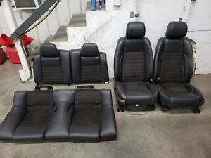 2013 2014 Ford Mustang California Special Black Leather Front Rear Seats