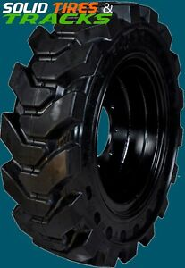 4 No Flats 12 16 5 12x16 5 33x9 16 Solid Skid Steer Tires R4 Rims value Tire