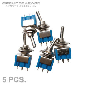 5 X 6a 125v Ac On off Mini Spdt 2 Position Latching Toggle Switches Usa