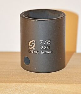 7 8 Inch 1 2 Drive 6 Point Standard Impact Socket