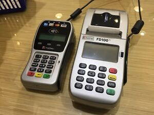 First Data Fd100ti Credit Card Terminal And Fd 35 Pin Pad