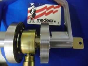 Medeco High Security Cylinder In Commerical Lever 626 Finish 4 Keys