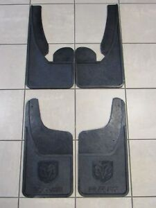 Dodge Ram Front rear Heavy Duty Rubber Mud Flaps New Oem Mopar
