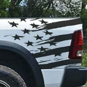 Dodge Ram Chevy Ford American Flag Truck Graphic Decal Vinyl Bed Tailgate Side