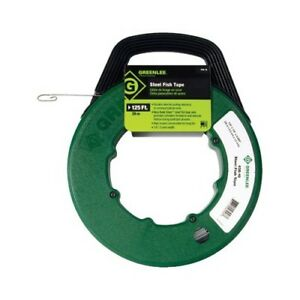 125 Ft Greenlee Fish Tape Brand New Steel 125 X 1 8 X 060 Wire Puller