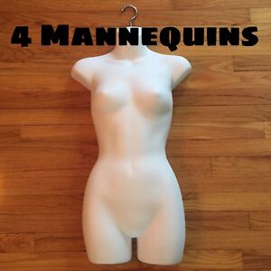 4 Pack Female Full Torso Hanging Mannequin Forms