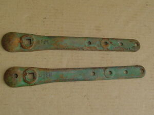 Pair Of Case Pitman Arm Straps Farm Sickle Bar Mower Vintage