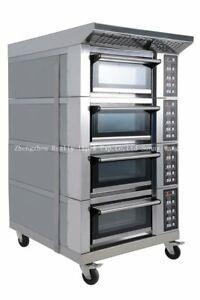 Bakery Equipment Commercial 4 leyers 1 plate Electric Bread Oven Baking Machine