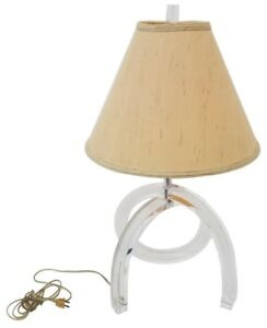 Herb Ritts Knot Lucite Pretzel Table Lamp Mid Century Modern Dorothy Thorpe