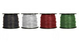 4 Awg Gauge Thhn Thwn Copper Conductor Building Wire 600v Black Green Red White