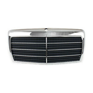 Black Grille Assembly With Chrome Frame For Mercedes Benz E Class W124 1994 95