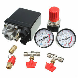 Air Compressor Pressure Valve 180psi Gauges Regulator Pump Control Switch