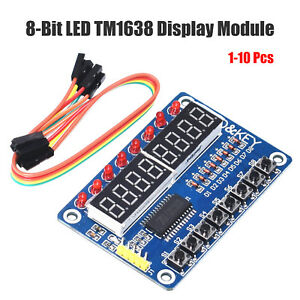 1 10pc 8 bit Digital Led Tube 8 bit Tm1638 8 Key Display Module For Avr Arduino