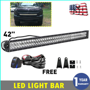 42inch Led Offroad Light Bar Spot Flood Combo Suv 4wd Ute For Ford Jeep 40