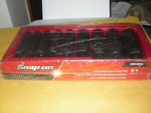 Snap On 309simya 9pc 1 2 Drive 6 Point Sae 1 2 1 Deep Impact Socket Set New