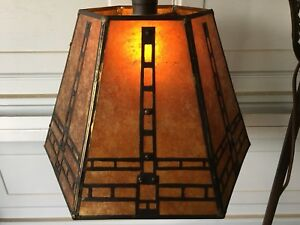 Mica Copper Bridge Lampshade Antique Arts Crafts Mission Modern Dragonfly