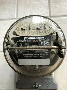 1930s Westinghouse Type Ob Electric Meter
