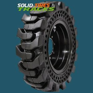 4 Case 1835 1835c 1838 1840 10x16 5 10 16 5 Solid Skid Steer Tires rims 6 Bolt