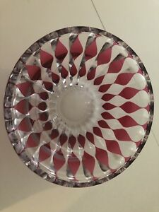 Antique Crystal Bowl Signed Val Saint Lambert