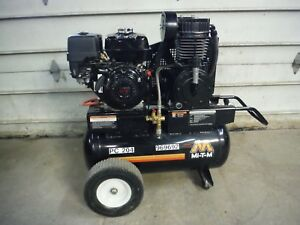 2016 Mi t m Am2 ph09 20m Portable Gas 20 Gal Two Stage Air Compressor W Honda