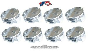 Je Forged Pistons 181917 Small Block Chevy 350 4 035 Bore 3 500 Stroke Set Of 8