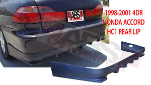 Hc1 Style Rear Lip For 1998 2001 Honda Accord Sedan 4dr Black Unpainted