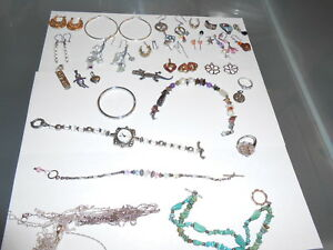 Large Lot Of Mixed Sterling Silver Jewelry Scrap Or Not