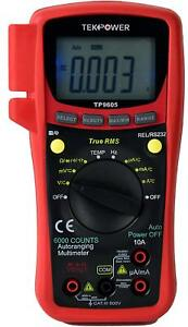 Tekpower Tp9605bt Digital True Rms Smart Multimeter With Bluetooth And Usb