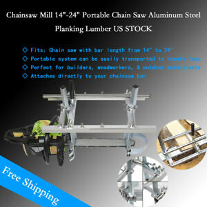 14 24 Portable Chainsaw Mill Chain Saw Mill Aluminum Steel Planking Lumber