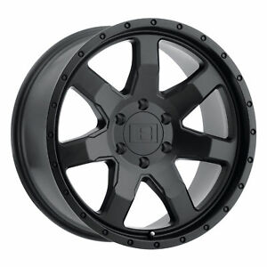 18x9 Level 8 Slam Matte Black Wheels 6x120 9mm Set Of 4