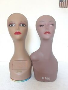 Zury Enstyle Durable Head Mannequin Display For Wig Hat Jewelry Lots Of 2