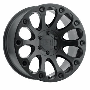15x8 Level 8 Impact Matte Black Wheels 6x5 5 24mm Set Of 4