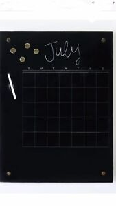 Petal Lane Glass Magnetic Calendar Dry Erase Board