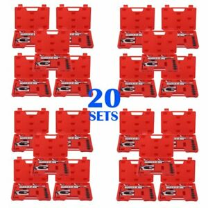20set 7pieces Double Brake Fuel Pipe Mechanic Flaring Flare Die Kit With Case To