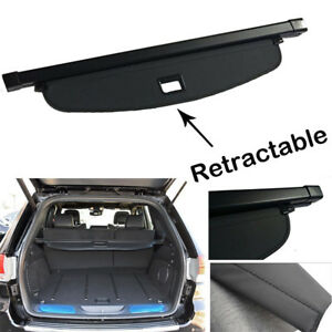 Black Retractable Cargo Cover Trunk Blind Shade For2011 2019 Jeep Grand Cherokee