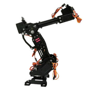 Metal 7 Axis Robot Robotic Arm Claw Clamp Gripper Kit W Servo For Arduino
