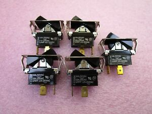 5 New Carlingswitch Tila51 1s bl fn Spdt Rocker Switch On off 10a 250vac