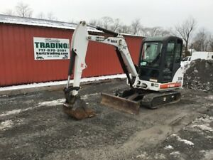 2006 Bobcat 334g Mini Excavator W Cab One Owner Only 700hrs