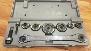 Ridgid Knockout Punch Ratchet 1 2in X 2in Set W case