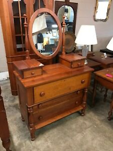 Campbellsville Solid Cherry Dresser Mirror Mcmahan Furniture Company