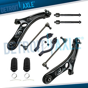 For 2012 2017 Hyundai Veloster Front Lower Control Arms Tierods Sway Bars Kit