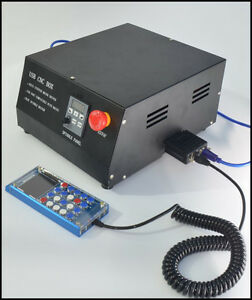 4 axis Cnc Engraving Machine Controller Box Lcd Manual Control Mach3 Adapter