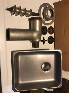 Commercial Grade Meat Grinder Attachment With Tray And Accessories