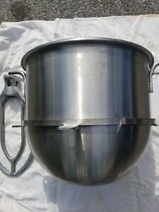 40 Quart Stainless Steel Mixing Bowl And Paddle For hobart Mixer