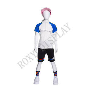 Egghead Boy Sport Mannequin Standing Pose Arms Straight Down mz yd k01