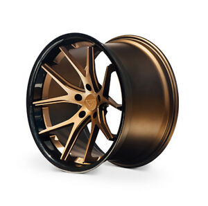 Ferrada Fr2 22x9 10 5 5x130 Et42 45 Matte Bronze Gloss Black Lip Wheels Set
